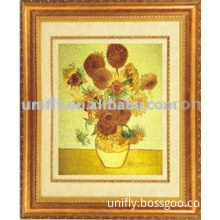 Embroidery of oil painting
