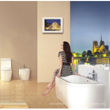 Се СКП freestanding ванны против стены опираются на стены