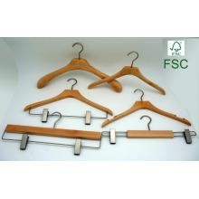 Bountique Anzug aus Holz Kleid benutzerdefinierte Kleiderbügel