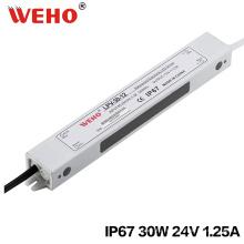 Защиты IP67 24В 30Вт светодиодный Водонепроницаемый Импульсный источник питания