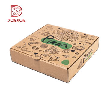 Venda quente aceitar oem caixa de pizza corrugada personalizada reciclável