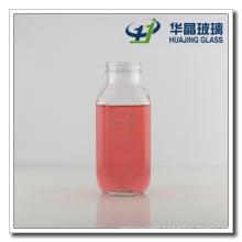 450ml 16oz Suqare Glass Juice Bottle Glass Milk Bottle