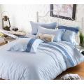 Peach Skin  Solid Lace Bedding Set Bed Sheet Duvet Cover Set