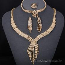 New gold jewellery dubai zircon jewelry set set christmas gifts