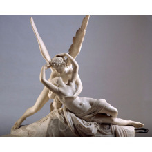 Western style stone carvings and sculptures marble beautiful angel figure statue