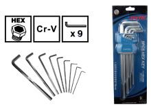 9 ШТ универсальное применение Cr-v шестигранный ключ для продажи