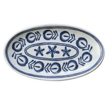 "Melamine Modern Blue Plate/14""Oval Plate/Melamine Dinnerware (DCY3514)"