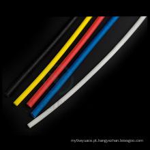 Fibra de vidro trançada revestida da borracha do silicone 1.2kv colorido que Sleeving