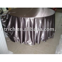 Mantelería de tela del satén, paño de tabla del hotel, cubierta de la mesa redonda