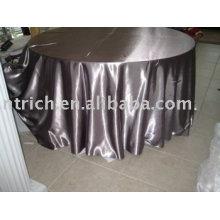 Toalhas de mesa tecido de cetim, toalha de mesa do hotel, tampa de mesa redonda