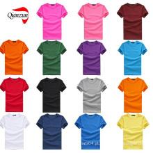 T-shirt liso feito sob encomenda do polo T-shirt 100% do algodão