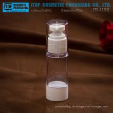 ZB-LI30 30ml attraktiv und klassischem weiß und klar 1 Unze rund 30ml Flasche airless Verpackung