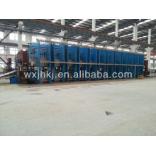 Conveyor belt vulcanizing machine production line