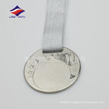 La médaille d'étoile Médaille de finition personnalisée Place la médaille