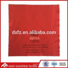 Tissu de lunettes microfibres avec logo d'impression sérigraphié personnalisé; Tissu de nettoyage d'objectif avec logo; Tissu de nettoyage de lunettes de soleil