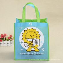 la bolsa de plástico no tejida linda de las compras de los pp de los niños