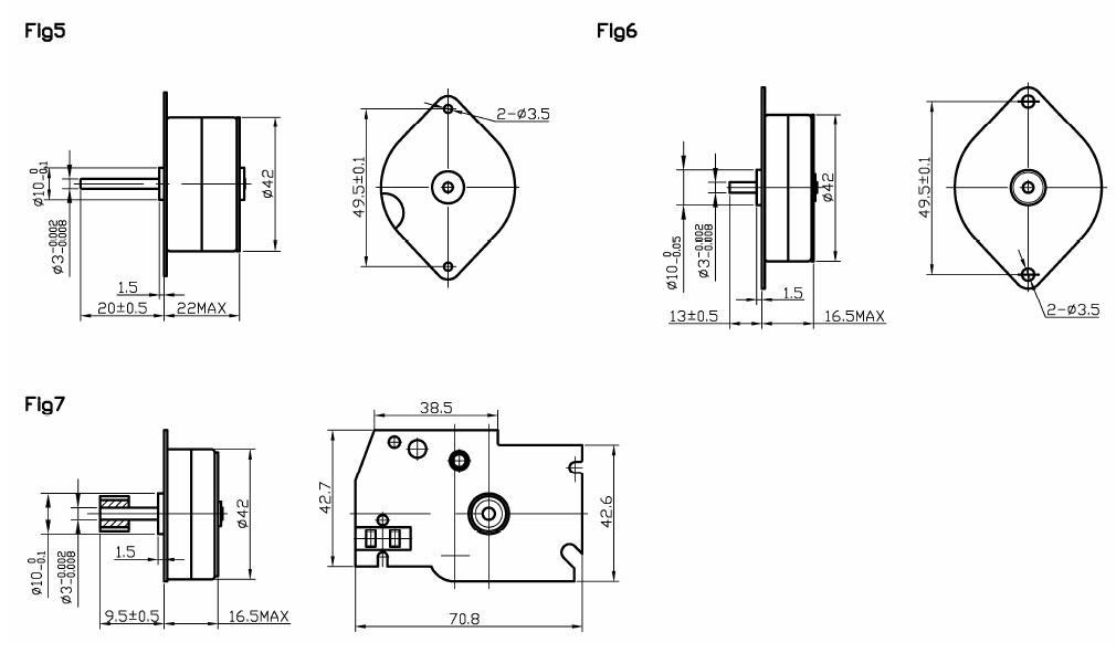 NEMA 17 PM stepper motors 4 phase windings 7.5°, 12v stepper motor