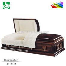 Novo caixão madeira alta qualidade design de estilo americano útil