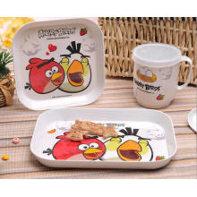 (BC-MK1019) Fashinable Design Reusable Melamine 4PCS Kids Cute Dinner Set