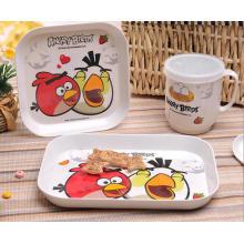 (BC-MK1019) Модный дизайн многоразового меламина 4PCS Kids Cute ужин набор