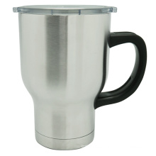 Travel Stainless Steel Vacuum Auto Mug with Handle 580ml