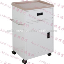 Krankenhaus-Nachttisch mit ABS-Oberteil mit Rollen oder fester Unterlage