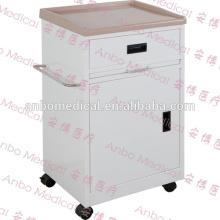 Больничная прикроватная тумбочка с ABS-покрытием с роликами или неподвижным основанием