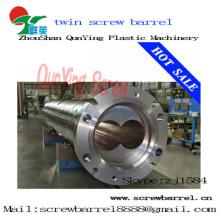 Double Twin parallèle vis Canon bimétalliques Twin parallèle vis Canon pour extrudeuse de feuille de Pvc