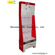 Présentoir de crochets de carton de Shenzhen avec le MDF (B & C-B024)