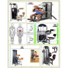 Máquina de esmagamento AB forte músculos abdominais Equipamento de Exercício abdominal