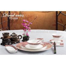 Ensemble de vaisselle en style espagnol, vaisselle de style campagnard pour le mariage