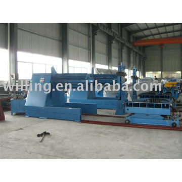 Máquina de desbobinação hidráulica de 10 toneladas com braço de pressão e carro de bobina