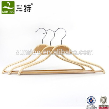 Supermarket Anti Slip Adult Clothes Laminated Hangers
