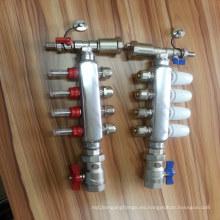 Separador de agua de acero inoxidable de 4 maneras para el sistema de calefacción de piso