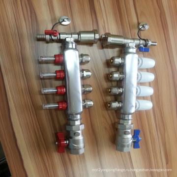 Из нержавеющей стали 4 пути Сепаратор воды для системы отопления пола