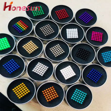 Multicolored Magnet Balls Toys D5MM 216pcs