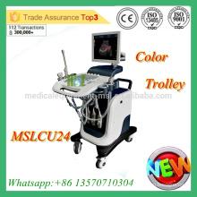MSLCU24M Machine à ultrasons doppler couleur couleur 4D de haute qualité Machine à ultrasons Doppler à chariot couleur