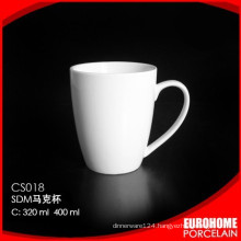 factory direct sell hotel use crockery super white ceramic mug