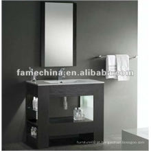 Armário de banheiro clássico de folheado de madeira