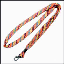 Narrow Fabric Knitted Polyester Custom Logo Lanyards for Advertising Gift