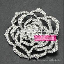 Гламурный кристалл розовый цветок булавка