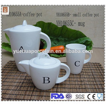 2015 New Design Ceramic coffee tea pot set with mug