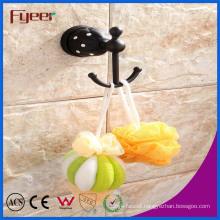 Fyeer Black Series Bathroom Accessory Brass Hanging Robe Hook