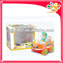 Cute Mini Car,Cartoon Cow Car,Plastic B/O Bump & Go Cartoon Car Toys,Car Toys With Light And Music For Children