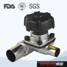 Stainless Steel Sanitary 3 Way Manual Diaphrgam Valve (JN-DV1007)