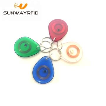 Porte-clés transparent RFID HF / LF / UHF