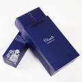 White Jewelry Paper Boxes with Silver Silk Butterfly (PB-WRBS Serie)