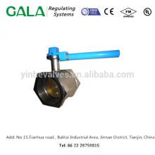 Válvula de cierre de rosca caliente de la venta de China con el operador de la palanca