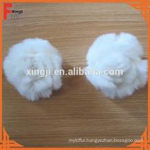 real white rabbit fur flower