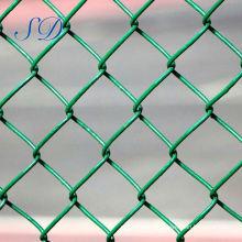 Clôture de maillon de chaîne en PVC vert Chine